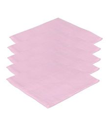 Lula Reusable Muslins Squares Pack of 5 - Pink
