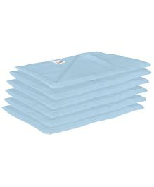 Lula Reusable Muslin Square Napkins Blue - Pack of 6