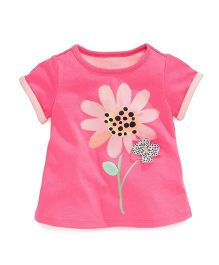 Angel Closet  Cute Flower Graphic Tee - Pink