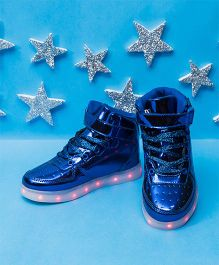 Pre Order - Little Maira High Top LED Shoes - Blue