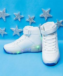 Pre Order - Little Maira Sports Look LED Shoes - White