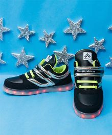 Pre Order - Little Maira Dual Color LED Shoes - Black & Green