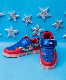 Pre Order - Little Maira USB LED Shoes With Sports Look - Red & Blue