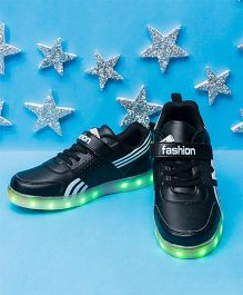 Pre Order - Little Maira USB LED Shoes With Stick On - Black
