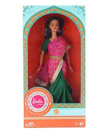 Barbie In India Fashion Doll Madurai Theme With DIY Kit Pink - 30 cm