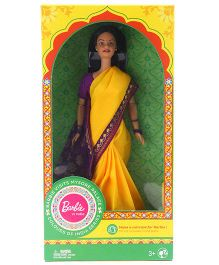 Barbie In India Fashion Doll Mysore Theme With DIY Kit Yellow - 30 cm