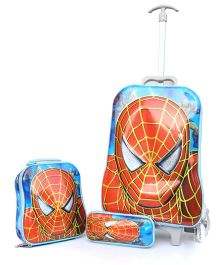 Baby Oodles Trolley Bag Combo Spiderman Theme Red - 18.8 inches