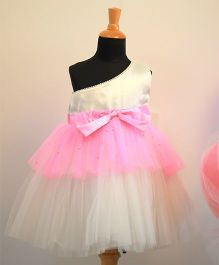 Tutus By Tutu Layered One Shouldered Dress - Pink & White