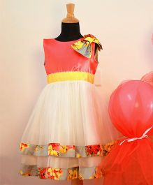 Tutus By Tutu Layered Shoulder Bow Dress - Multicolour