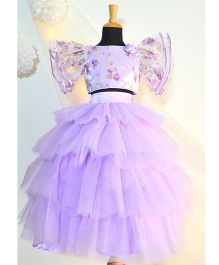 Tutus By Tutu Buttefly Skirt Top & Skirt Set - Violet