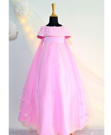 Tutus By Tutu Off-Shoulder Rose Gown With Wings - Pink
