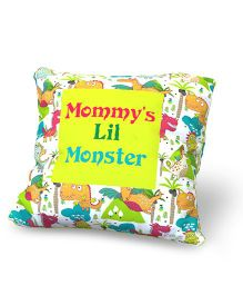 Baby Oodles Cushion With Inner Filler Mommy's Lil Monster Print - Multi Color