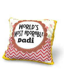Baby Oodles Cushion With Inner Filler Adorable Dadi Print - Multi Color