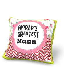 Baby Oodles Cushion With Inner Filler Greatest Nanu Print - Multi Color