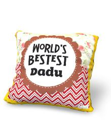 Baby Oodles Cushion With Inner Filler Bestest Dadu Print - Multi Color