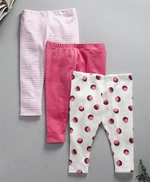 Kadam Baby Printed Legging - Pack Of 3 - Pink