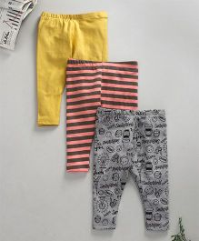 Kadam Baby Set Of Three Leggings - Multicolor