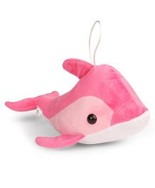 Ultra Hanging Dolphin Soft Toy Pink - Length 40.64 cm