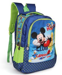 Disney School Bag Mickey Mouse And Friends Print Blue Green - 17 Inches