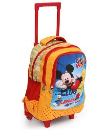 Disney Mickey Mouse & Friends Trolley School Bag Yellow - 16.5 Inches