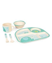 LuvLap Baby Bamboo Dinner Set Pack of 5 - Blue
