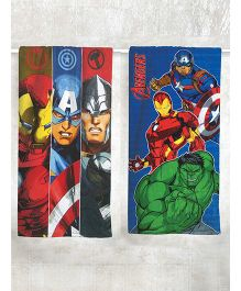Marvel Avengers Printed Bath Towel Pack of 2 - Red Blue