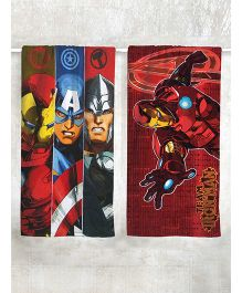 Marvel Avengers & Iron Man Printed Bath Towel Pack of 2 - Red