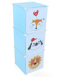 3 Compartment Storage Rack Animal Print - Blue