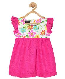 Pspeaches Lace Cambric Dress - Magenta