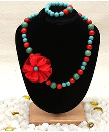D'Chica Jewellery Set - Red & Green