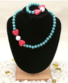 D'Chica Jewellery Set - Blue & Pink