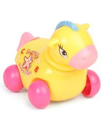 Playmate Horse Shape Wind-up Toy - Yellow