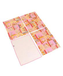 Mee Mee's Total Dry And Breathable Mattress Protector Mat Animal Print - Pink