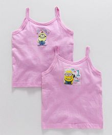 Mustang Singlet Slip One In a Minion Print Pack Of 2 - Pink