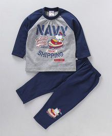 Chumpkin East Coast Shipping Tee & Pant Night Suit - Blue