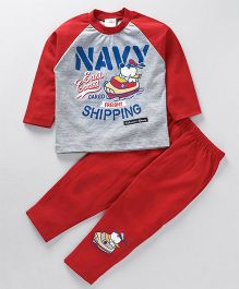 Chumpkin Navy East Coast Shipping Night Suit - Red
