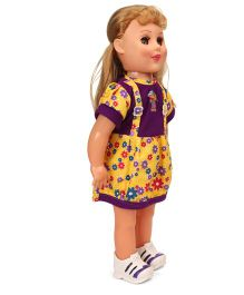 Speedage Senorita Doll With Flower Print Dress Purple Yellow - 47 cm