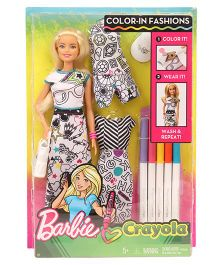Barbie DIY Crayola Colouring Fashion Doll - Multi Colour