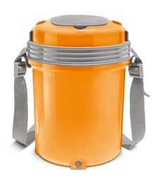 Milton Electron Electric Lunch Pack With 4 Stainless Steel Containers Orange - 360 ml Each