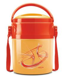 Milton Odyssey Deluxe Airtight Insulated Lunch Box With 3 Steel Containers - Orange