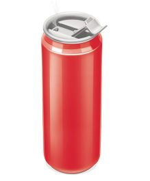 Milton Thermosteel Double Wall Insulated Can Shaped Sipper Bottle Red - 330 ml