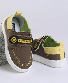 Cute Walk by Babyhug Casual Shoes Velcro Closure - Brown