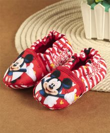 Mickey Mouse And Friends Printed Booties - Red