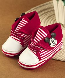 Mickey Mouse And Friends Ankle Length Booties - Red