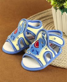 Fisher Price Booties Elephant Motif - Sky Blue