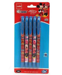 Cello Mickey Mouse Geltec All Star Gel Pen - Pack of 5