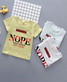 Pre Order - Awabox Nope Printed Tee - Yellow