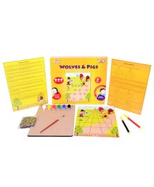 Desi Toys DIY Wolves & Pigs Strategy Board Game - Multi Color