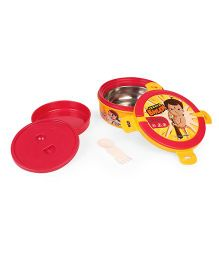 Chhota Bheem Insulated Gamma Steel Lunch Box Red Yellow (Prints May Vary)