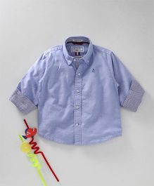 Gini & Jony Full Sleeves Solid Color Shirt - Light Blue